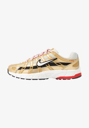 P-6000 - Sneaker low - light bone/summit white/metallic gold/university red/black