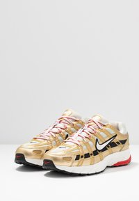 Nike Sportswear - P-6000 - Trainers - light bone/summit white/metallic gold/university red/black - 6
