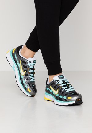 P-6000 - Sneakers laag - black/white/aurora green/amber rise/metallic dark grey/chrome yellow