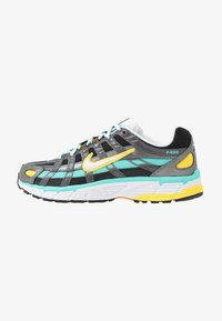 Nike Sportswear - P-6000 - Joggesko - black/white/aurora green/amber rise/metallic dark grey/chrome yellow - 1