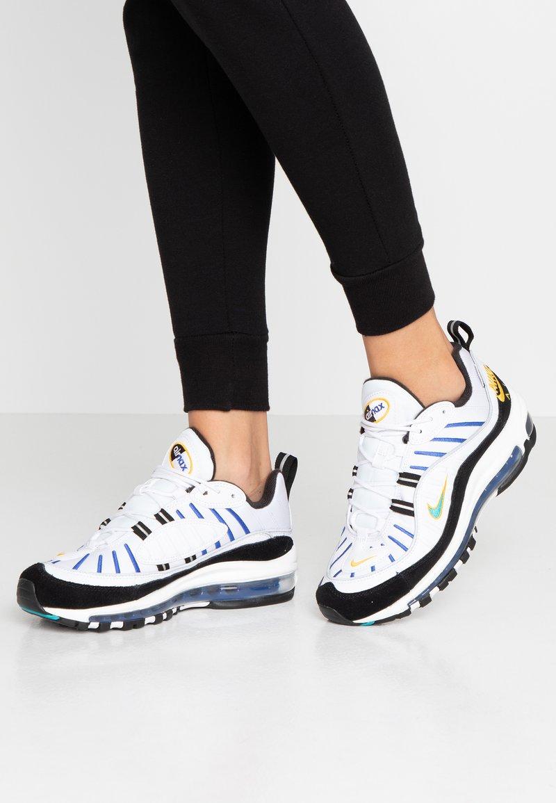 Nike Sportswear - AIR MAX 98 PRM - Trainers - white/university gold/black/game royal
