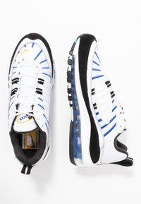 Nike Sportswear - AIR MAX 98 PRM - Tenisky - white/university gold/black/game royal - 3