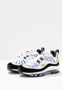 Nike Sportswear - AIR MAX 98 PRM - Tenisky - white/university gold/black/game royal - 4