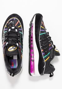 Nike Sportswear - AIR MAX 98 PRM - Trainers - black/flash crimson/kinetic green/psychic purple/universe gold/white - 3