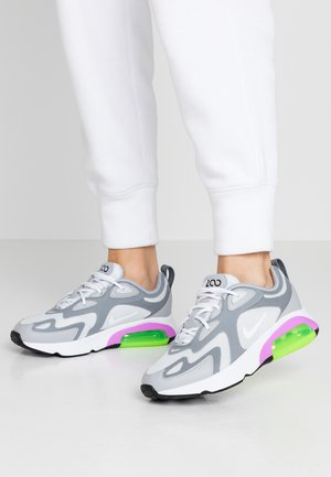 AIR MAX 200 - Sneaker low - pure platinum/white/cool grey/wolf grey/atomic purple/electric green
