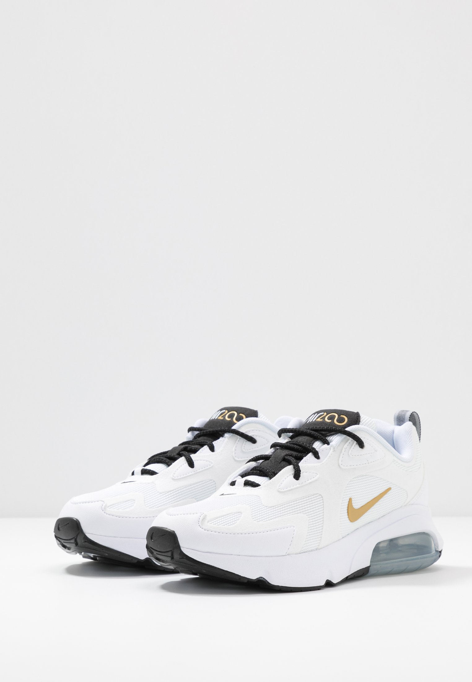 Nike Sportswear AIR MAX 200 - Sneakersy niskie - white/metallic gold/black/metallic silver