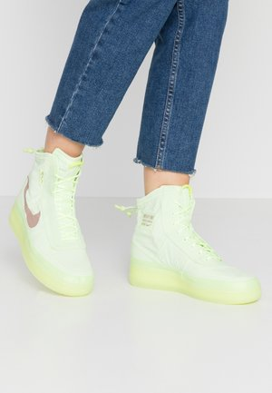 AIR FORCE 1 - Höga sneakers - barely volt/desert dust/barely volt