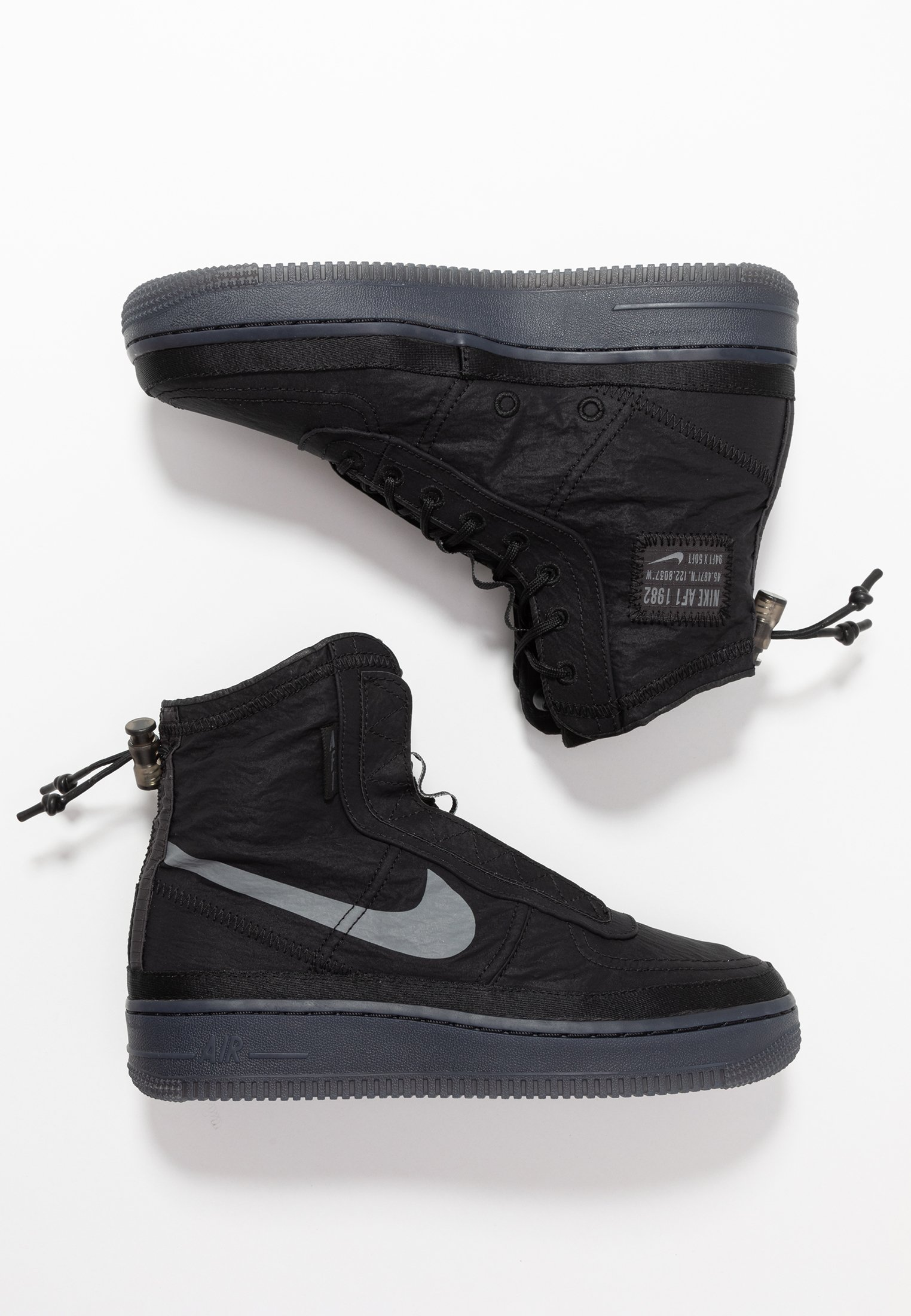 Nike Sportswear AIR FORCE 1 - Sneakersy wysokie - black/dark grey