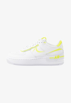 AIR FORCE 1 SHADOW - Baskets basses - white/lemon