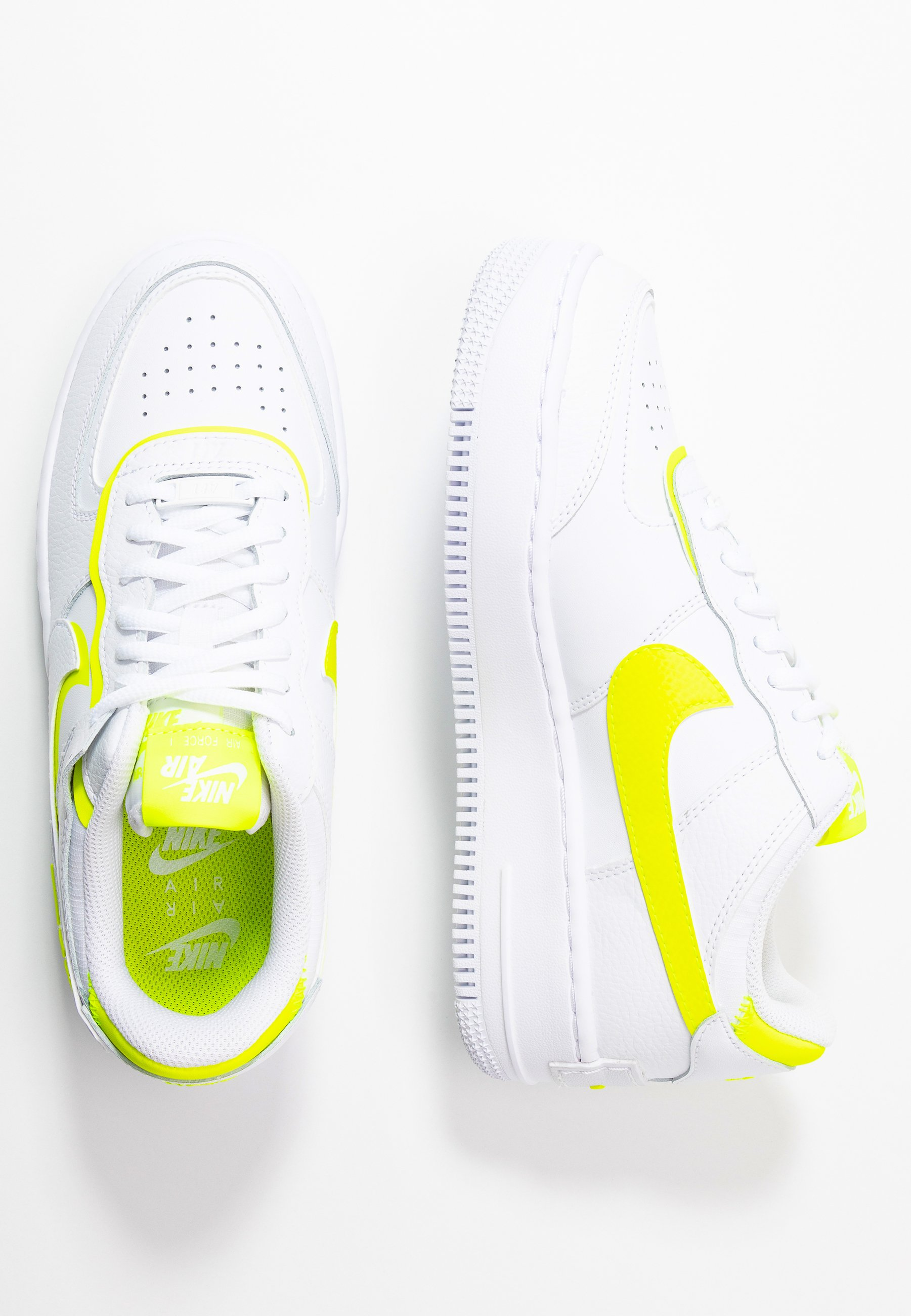 AIR FORCE 1 SHADOW - Sneakers laag - white/lemon