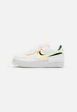 AIR FORCE 1 SHADOW - Sneakers - summit white/crimson tint/black/barely volt
