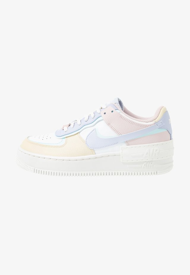 AIR FORCE 1 SHADOW - Trainers - summit white/ghost/glacier blue/fossil/barely rose