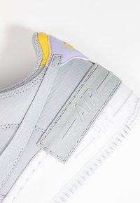 Nike Sportswear - AIR FORCE 1 SHADOW - Matalavartiset tennarit - wolf grey/chrome yellow/lavender mist - 2