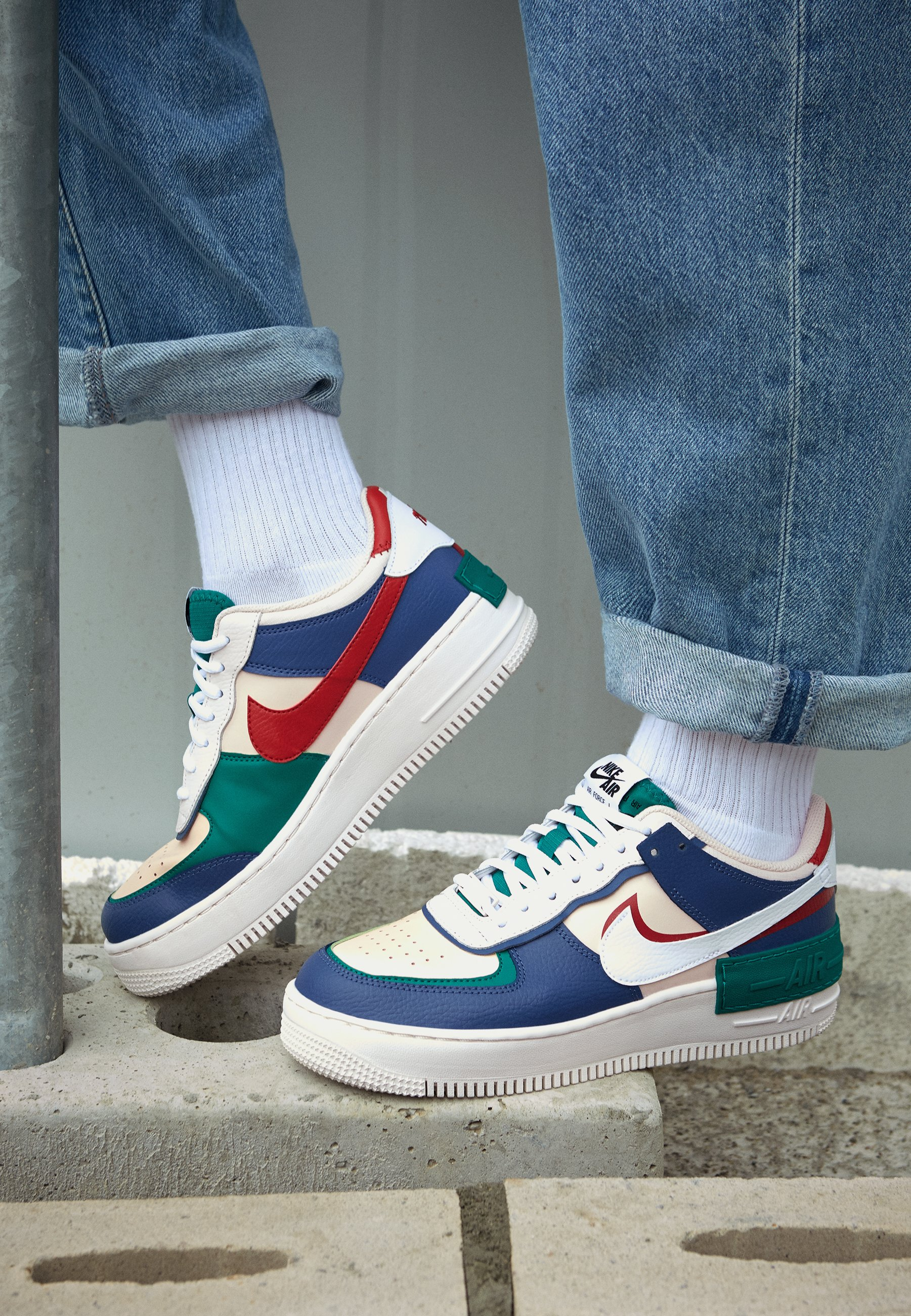 Nike Air Force 1 Shadow Donna Mystic Navy Echo Pink