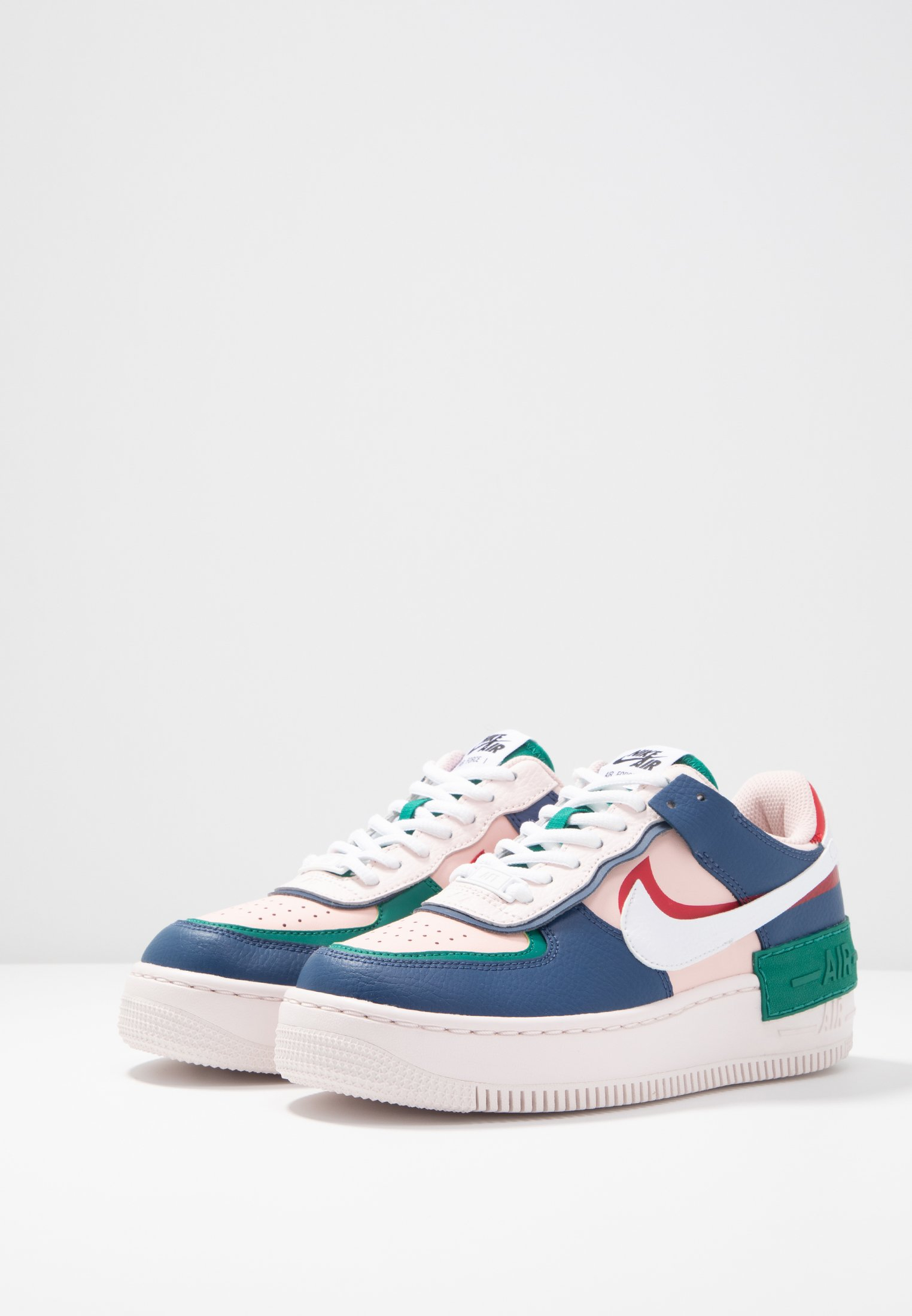 Nike Air Force 1 Shadow Mystic Bleu MarineEcho RoseRouge
