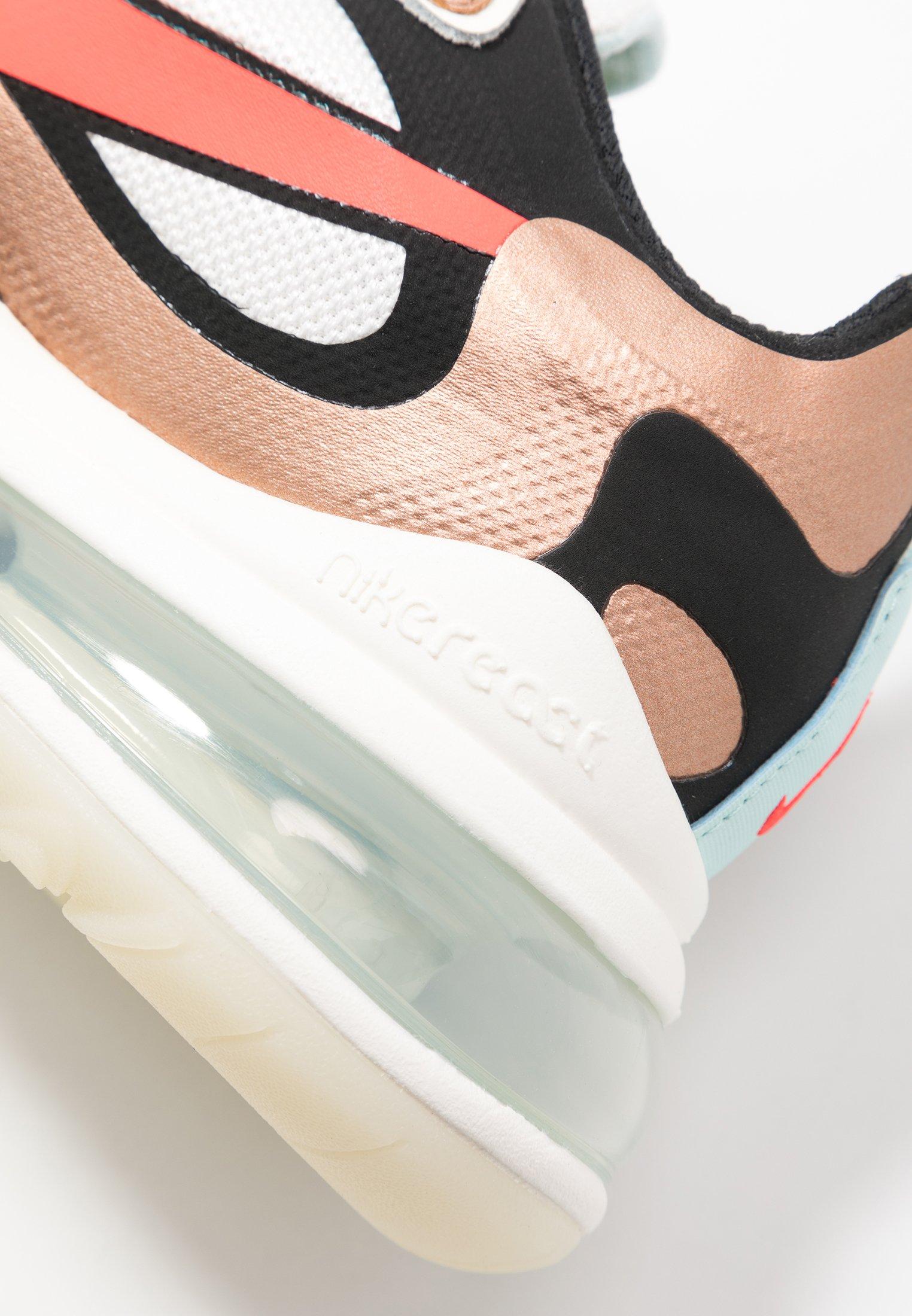 AIR MAX 270 REACT Sneakers basse sailblack metallicred bronzepure platinumteal tintbright crimson