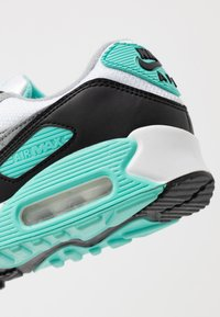 Nike Sportswear - AIR MAX 90 - Sneakers laag - white/particle grey/hyper turquise/black/light smoke grey - 2