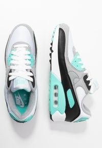 Nike Sportswear - AIR MAX 90 - Sneakers laag - white/particle grey/hyper turquise/black/light smoke grey - 3