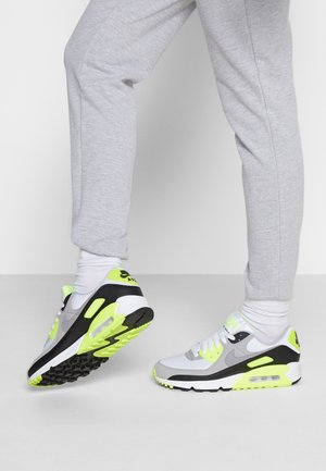 AIR MAX 90 - Sneakersy niskie - white/particle grey/volt/black/light smoke grey