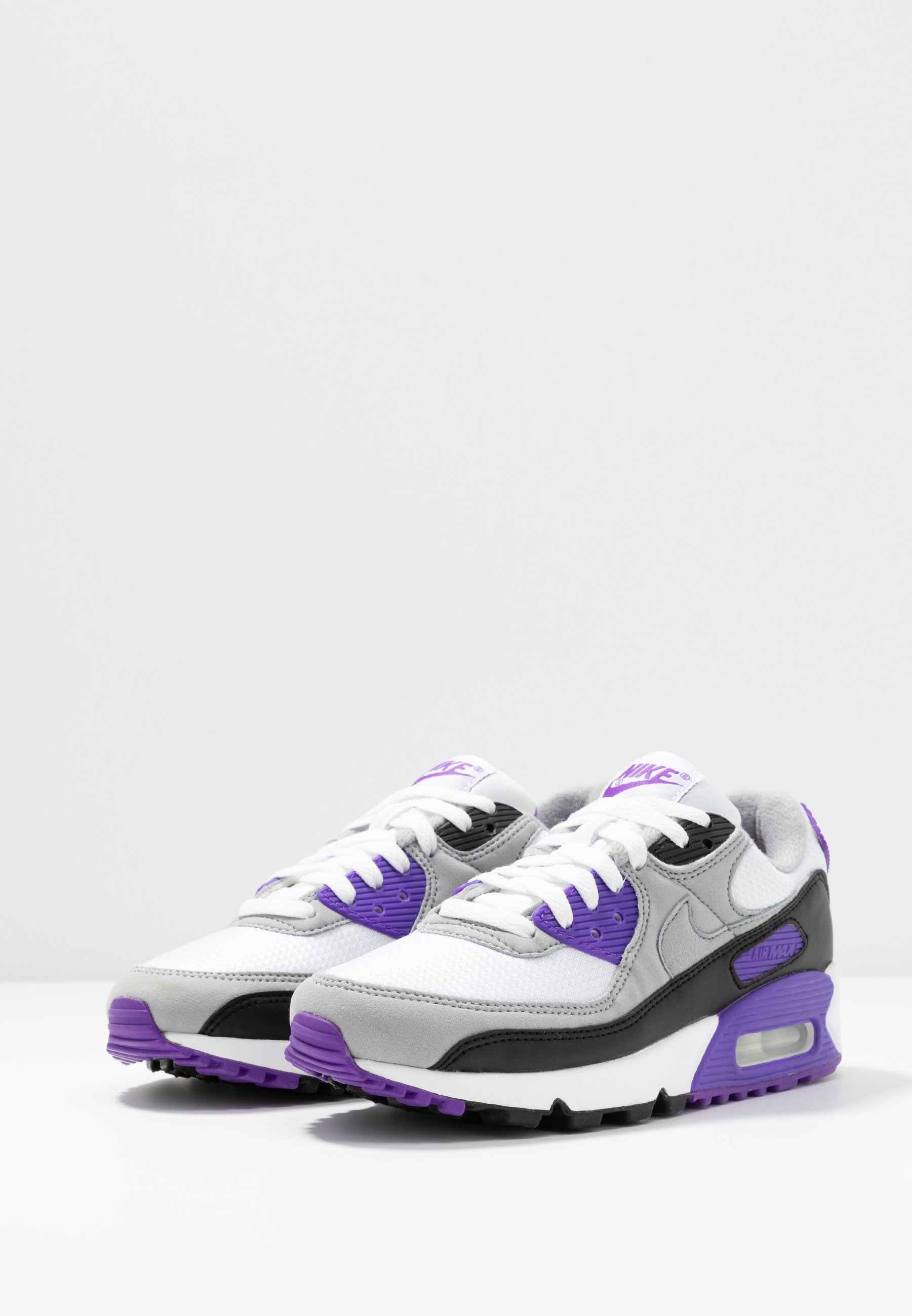 Nike Sportswear Air Max 90 - Joggesko White/particle Grey/hyper Grape/black/light Smoke Grey