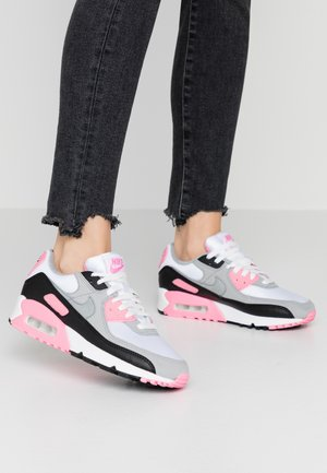 AIR MAX 90 - Sneakers laag - white/particle grey/rose/black/light smoke grey