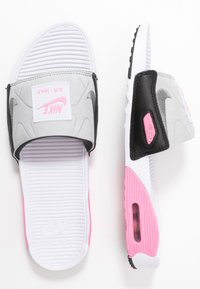 Nike Sportswear - NIKE AIR MAX 90 DAMEN-SLIDES - Sandały kąpielowe - white/cool grey/rose/pure platinum/black - 1
