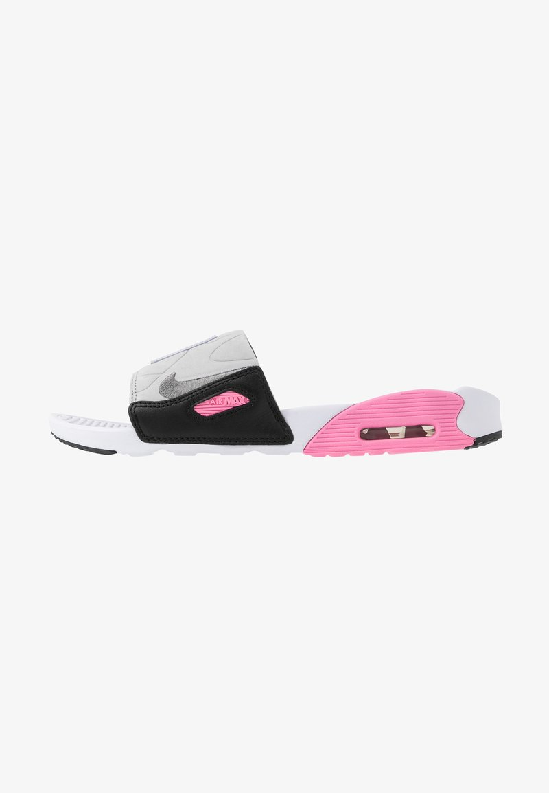 Nike Sportswear - NIKE AIR MAX 90 DAMEN-SLIDES - Sandały kąpielowe - white/cool grey/rose/pure platinum/black