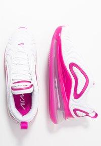 Nike Sportswear - AIR MAX 720 - Sneakersy niskie - white/fire pink/metallic silver/platinum tint - 3