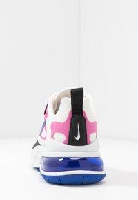 Nike Sportswear - AIR MAX 270 REACT - Sneakersy niskie - summit white/hyper blue/cosmic fuchsia/black - 5