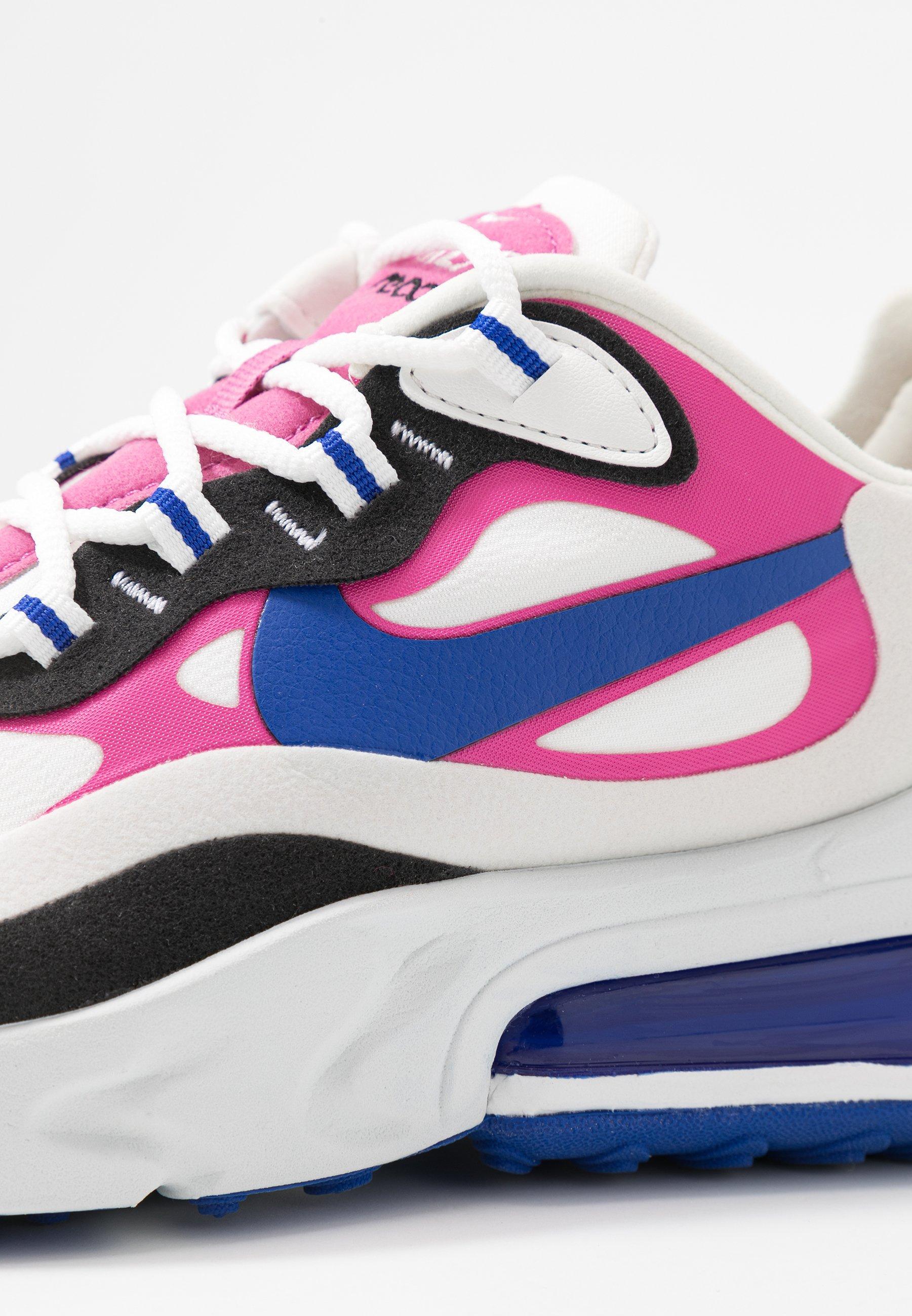 Nike Sportswear AIR MAX 270 REACT - Baskets basses - summit white/hyper blue/cosmic fuchsia/black