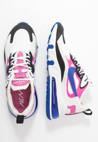 Nike Sportswear - AIR MAX 270 REACT - Sneakersy niskie - summit white/hyper blue/cosmic fuchsia/black - 3
