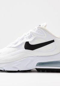 Nike Sportswear - AIR MAX 270 REACT - Sneakers laag - white/black/metallic silver - 2