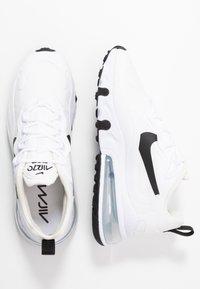 Nike Sportswear - AIR MAX 270 REACT - Sneakers laag - white/black/metallic silver - 3