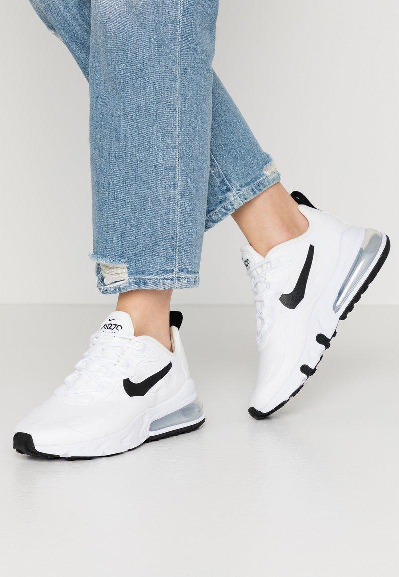 Nike Sportswear - AIR MAX 270 REACT - Sneakers - white/black/metallic silver