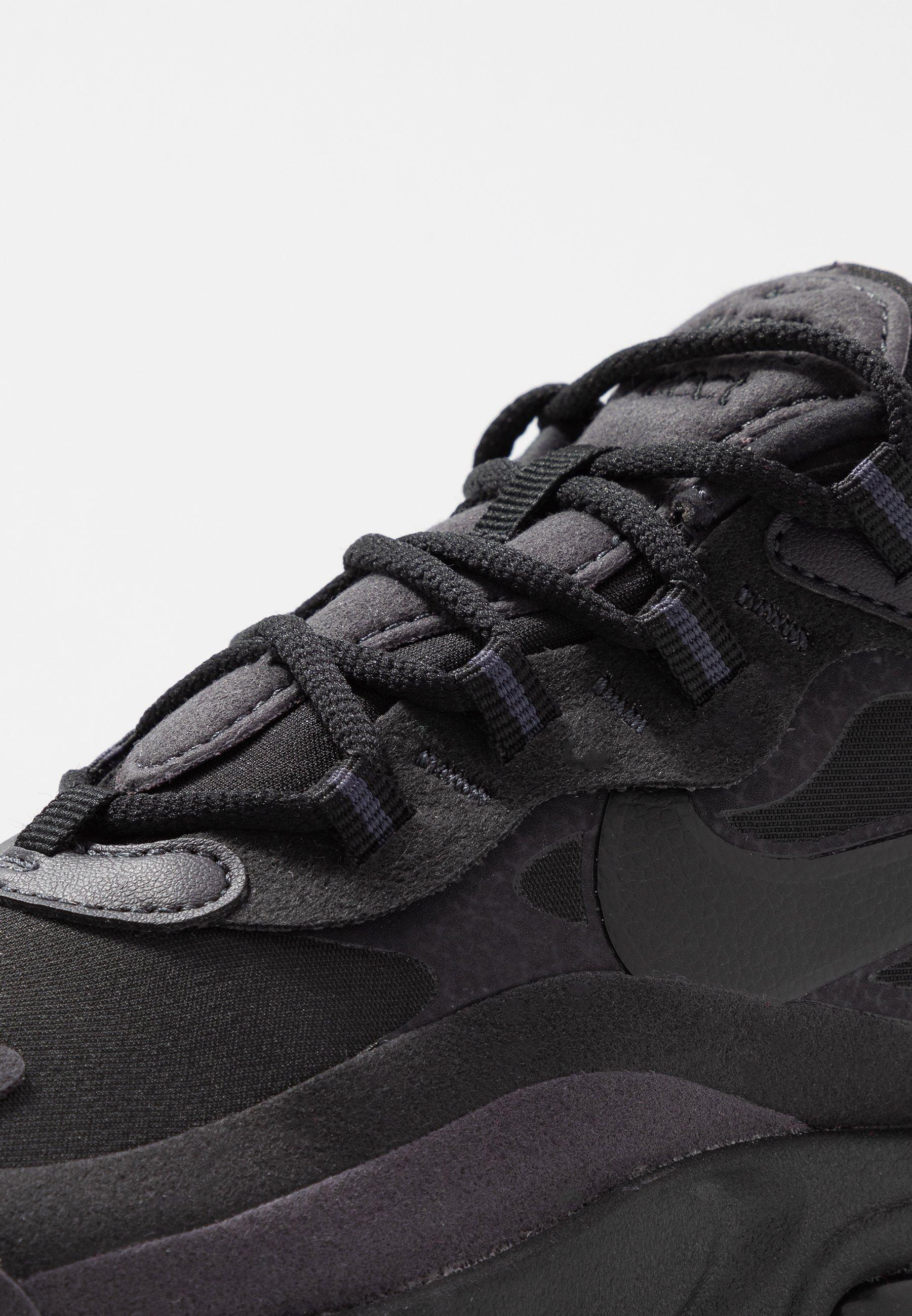 Nike Sportswear Air Max 270 React - Sneakers Basse Black/oil Grey/white cb15WXE