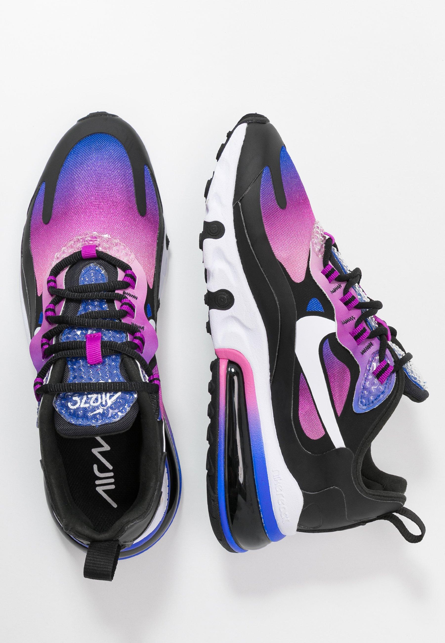 Nike Sportswear AIR MAX 270 REACT - Sneakersy niskie - hyper blue/white/magic flamingo/vivid purple/black