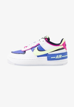 AIR FORCE 1 SHADOW - Zapatillas - white/barely volt/sapphire/fire pink/blackened blue