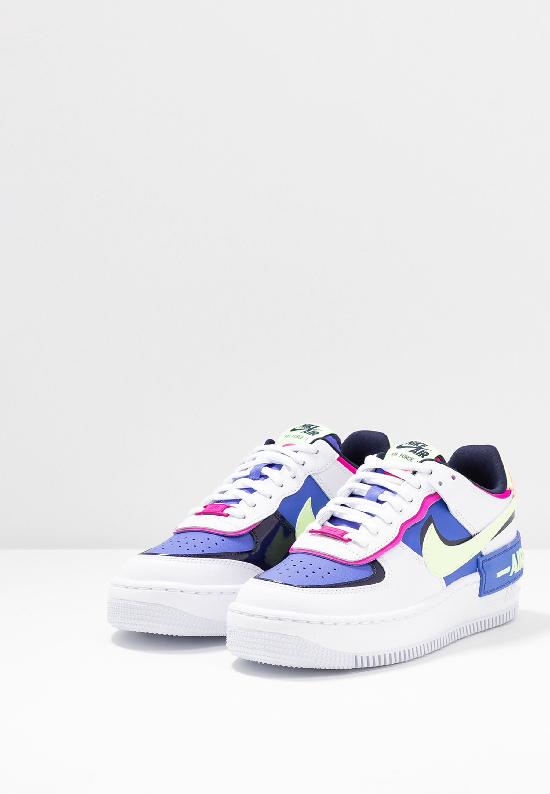 AIR FORCE 1 SHADOW Sneaker low whitebarely voltsapphirefire pinkblackened blue