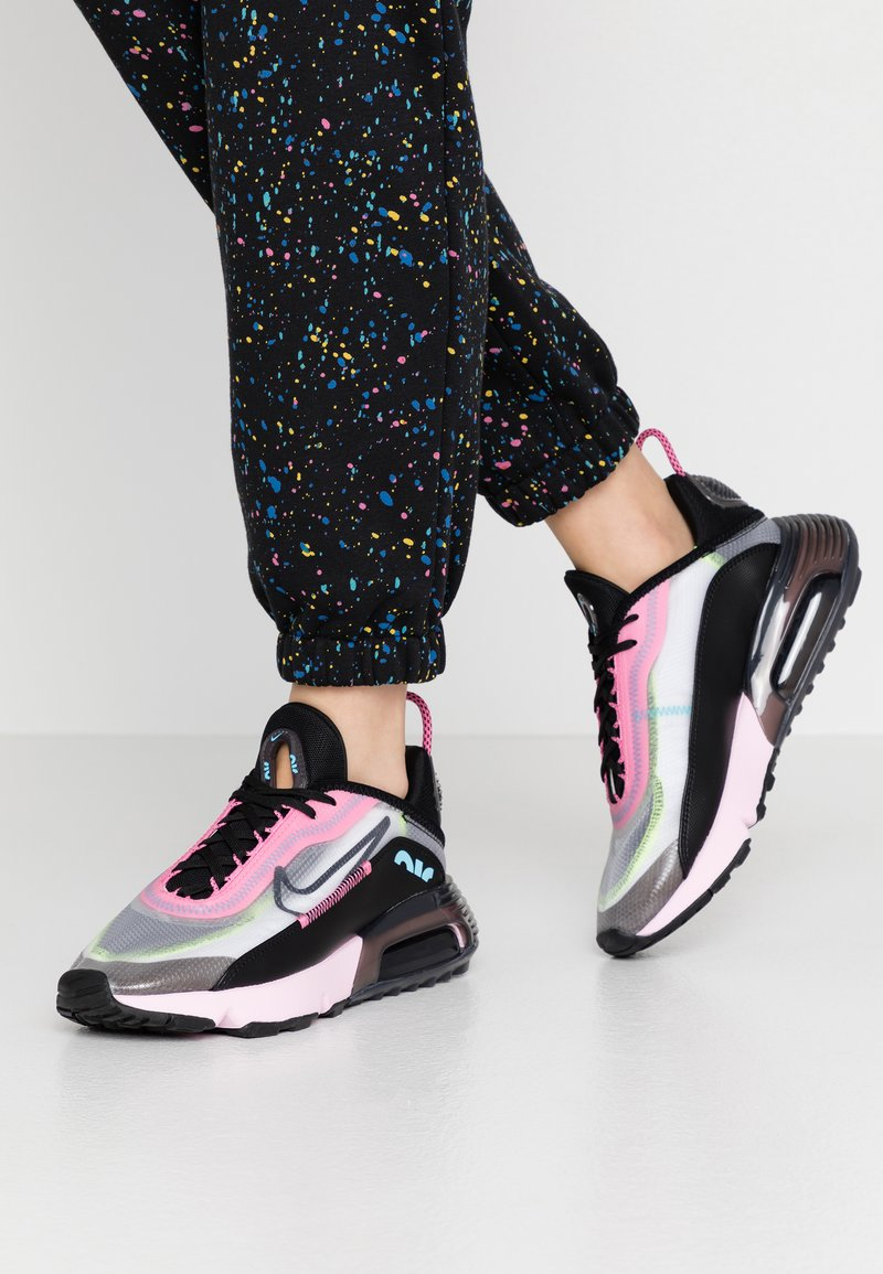 Nike Sportswear - AIR MAX 2090 - Trainers - white/black/pink foam/lotus pink/volt/blue gaze