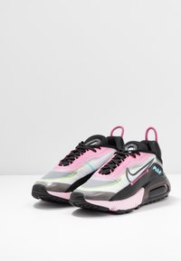 Nike Sportswear - AIR MAX 2090 - Sneakers laag - white/black/pink foam/lotus pink/volt/blue gaze - 4