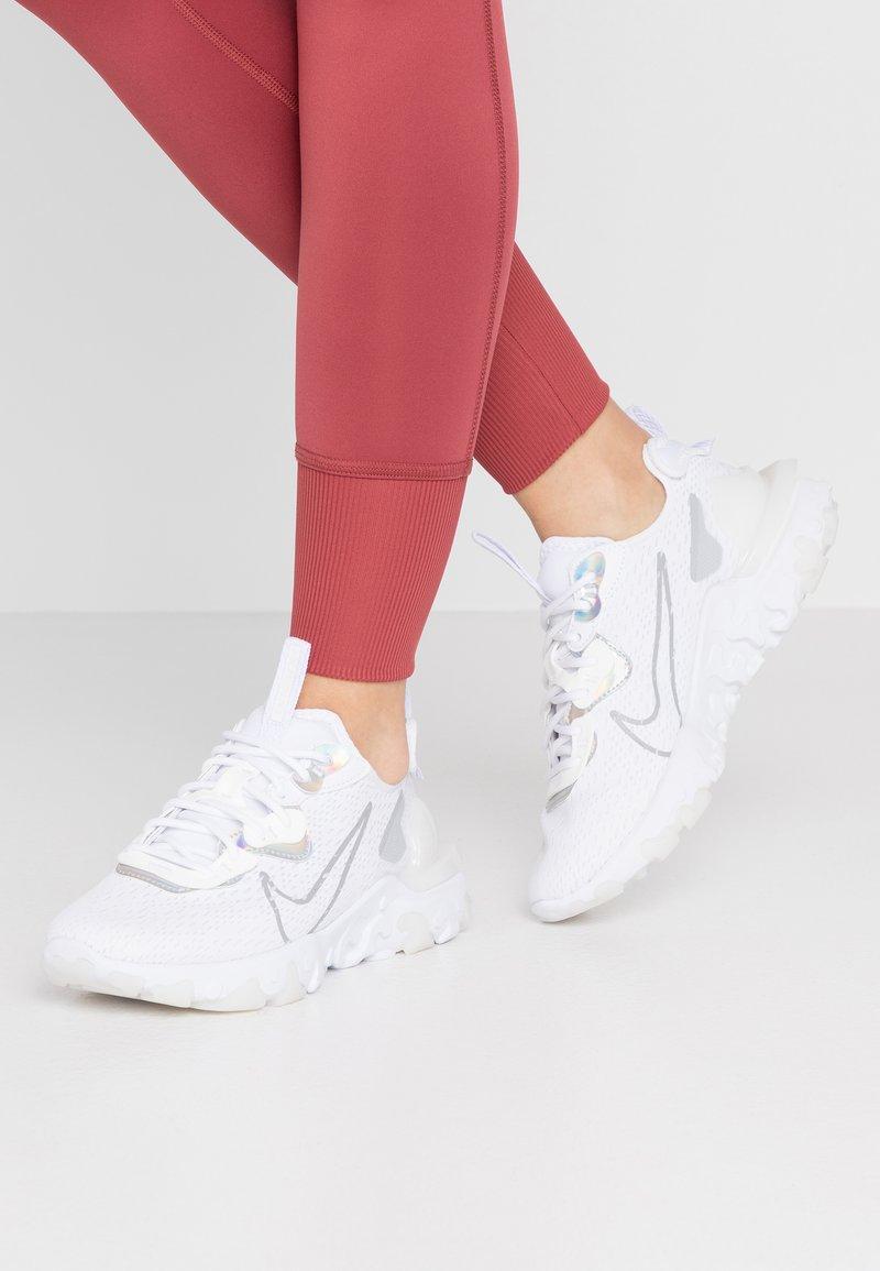 Nike Sportswear - REACT VISION - Trainers - white/platinum tint/white