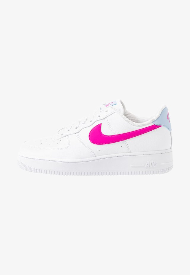 AIR FORCE 1 - Sneakers - white/fire pink/hydrogen blue