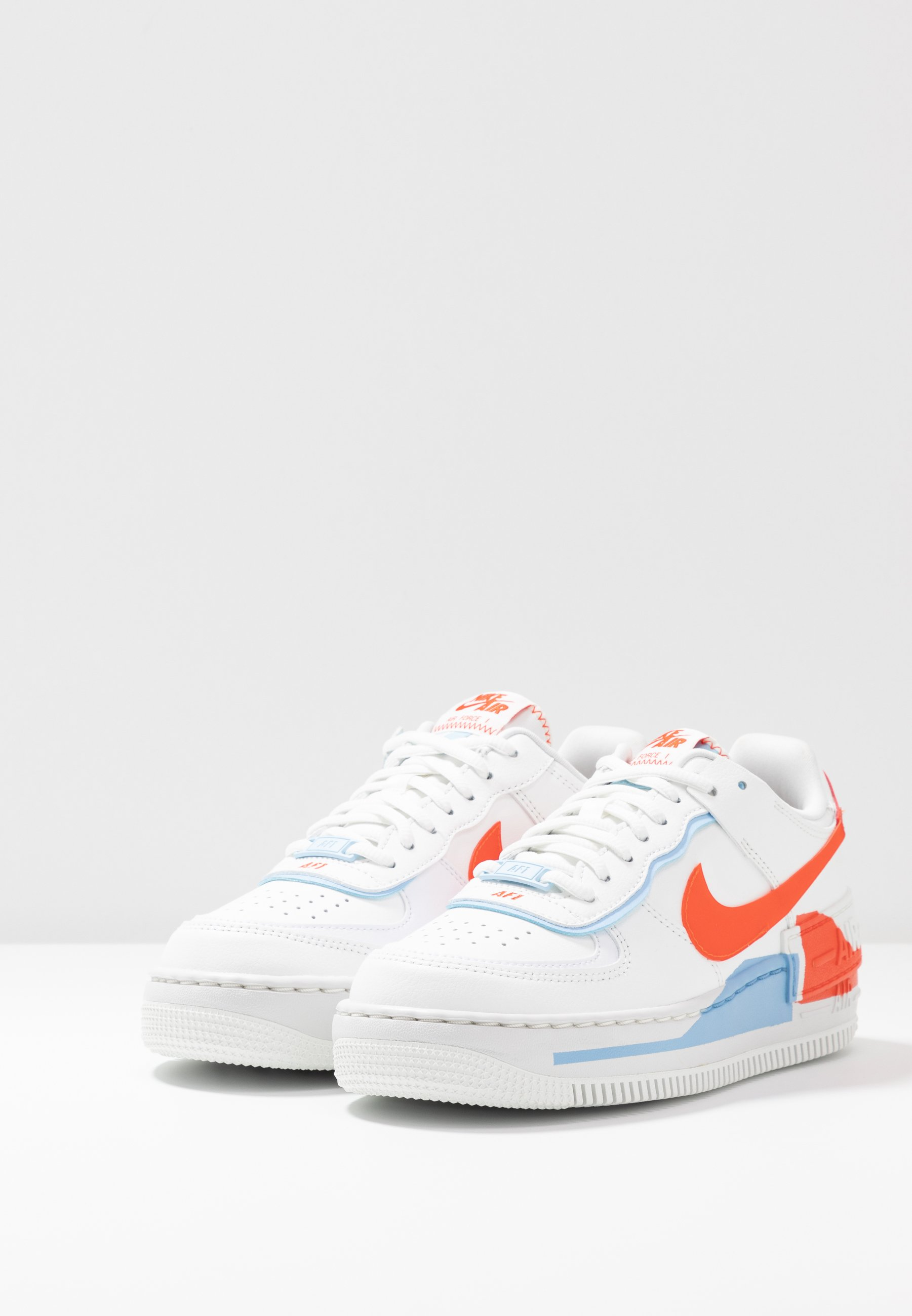 AIR FORCE 1 SHADOW - Sneaker low - summit white/team orange/psychic  blue/white