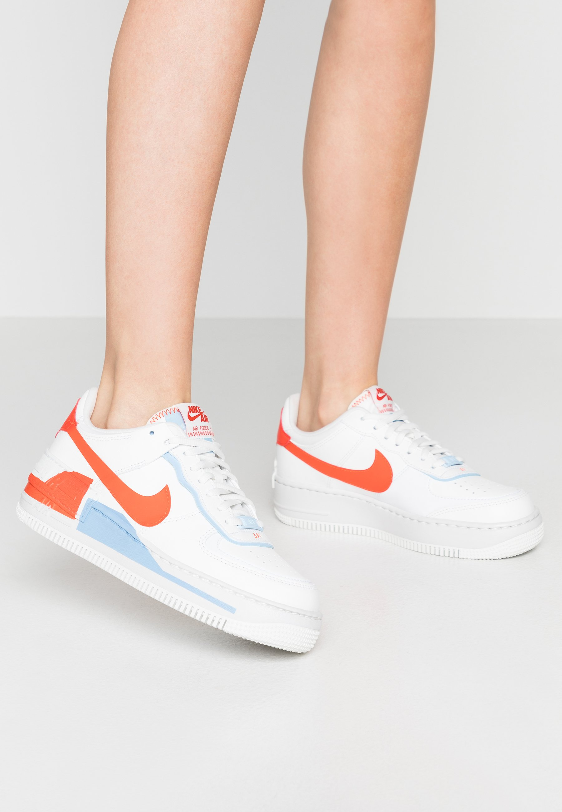 AIR FORCE 1 SHADOW Sneakersy niskie summit whiteteam orangepsychic bluewhite