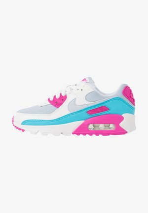 AIR MAX 90 - Sneakersy niskie - football grey/summit white/fire pink/blue fury