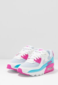 Nike Sportswear - AIR MAX 90 - Sneakers laag - football grey/summit white/fire pink/blue fury - 2