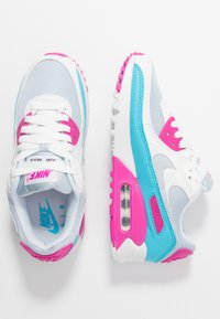 Nike Sportswear - AIR MAX 90 - Sneakers laag - football grey/summit white/fire pink/blue fury - 1