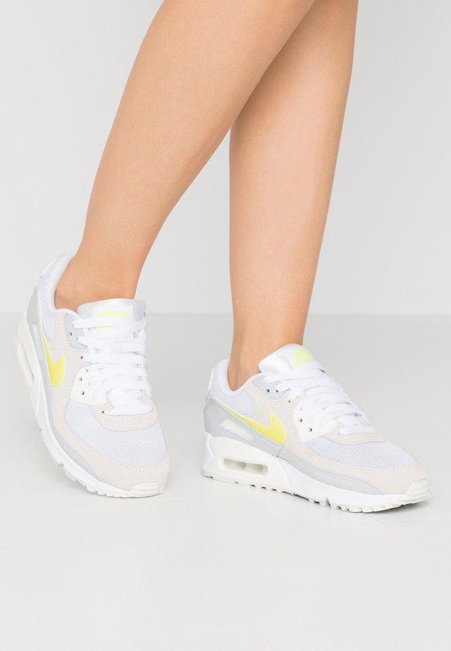 AIR MAX 90 - Sneakers basse - white/lemon/pure platinum/sail