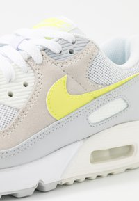 Nike Sportswear - AIR MAX 90 - Sneaker low - white/lemon/pure platinum/sail - 8