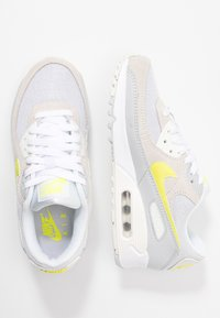 Nike Sportswear - AIR MAX 90 - Sneaker low - white/lemon/pure platinum/sail - 4
